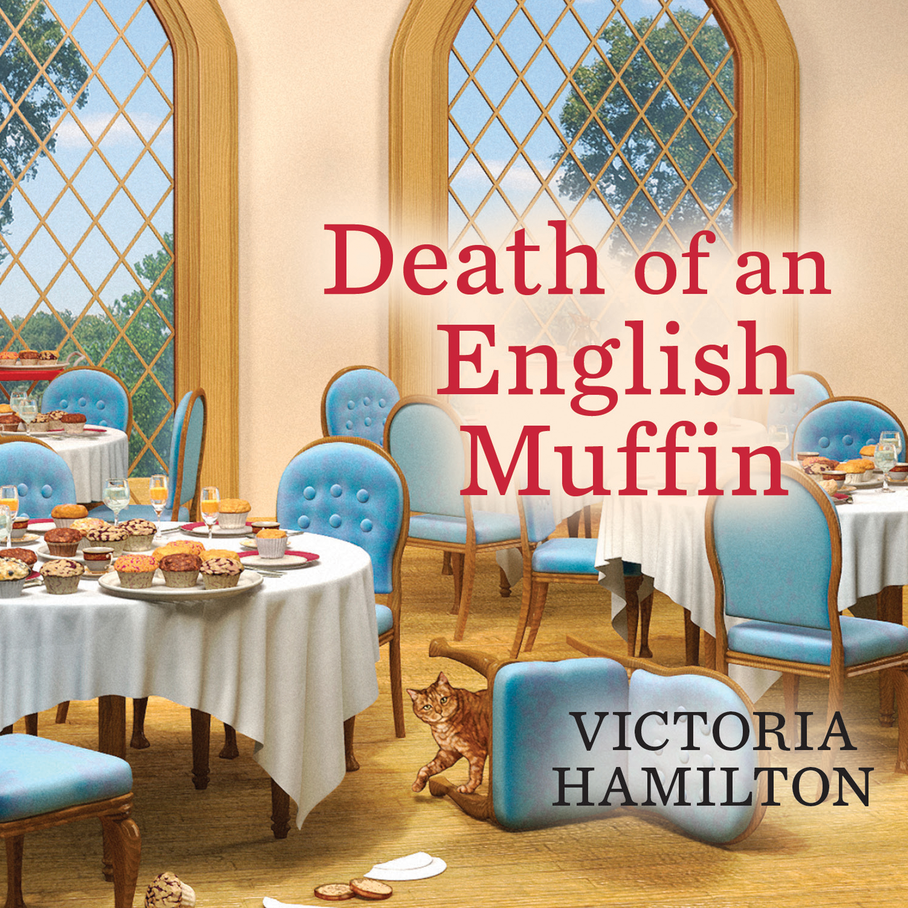 Printable Death of an English Muffin Audiobook Cover Art