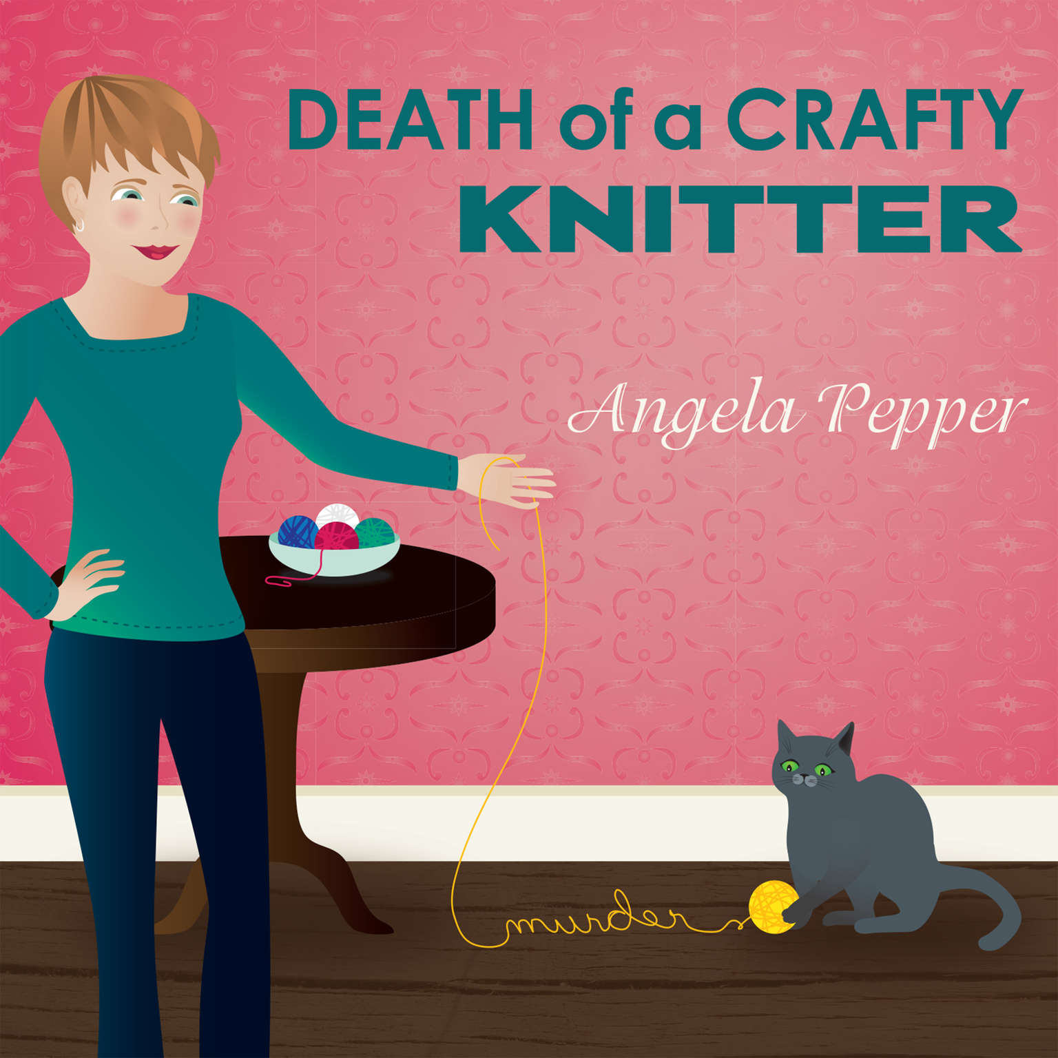 Death of a Crafty Knitter Audiobook, by Angela Pepper