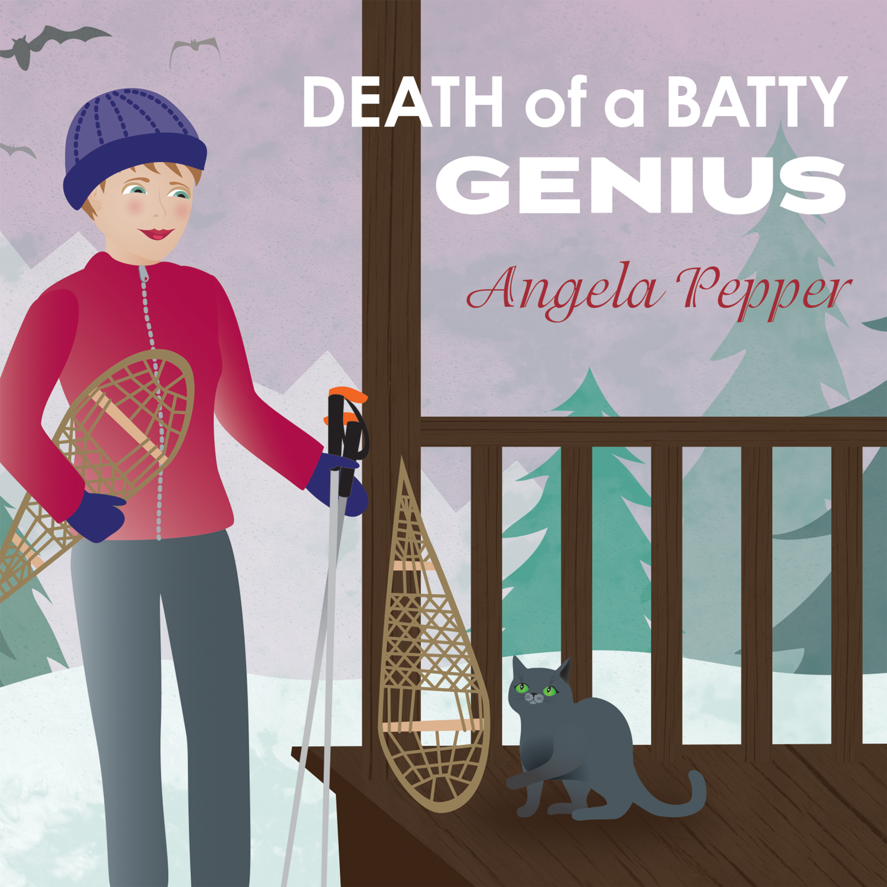Printable Death of a Batty Genius Audiobook Cover Art