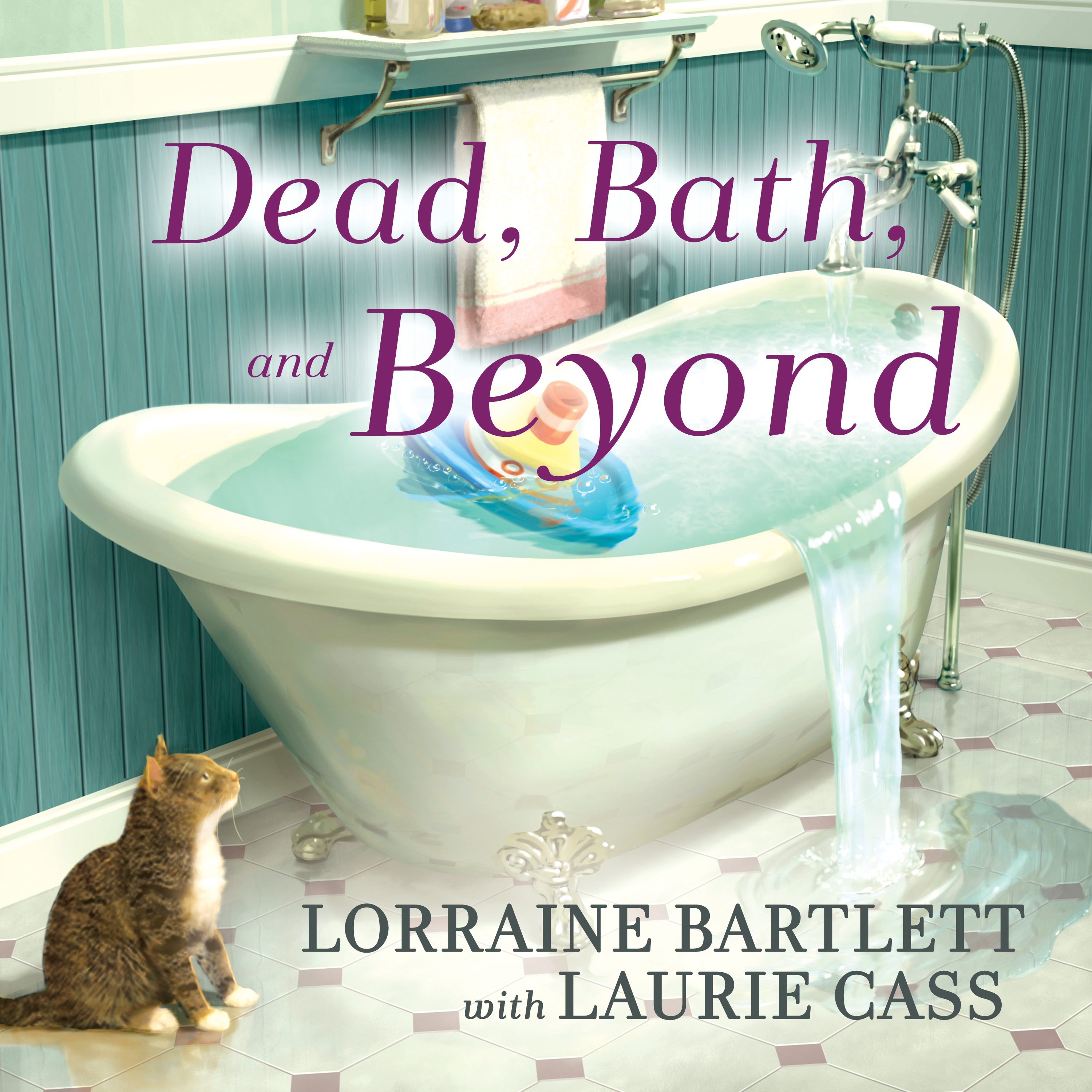 Printable Dead, Bath and Beyond Audiobook Cover Art