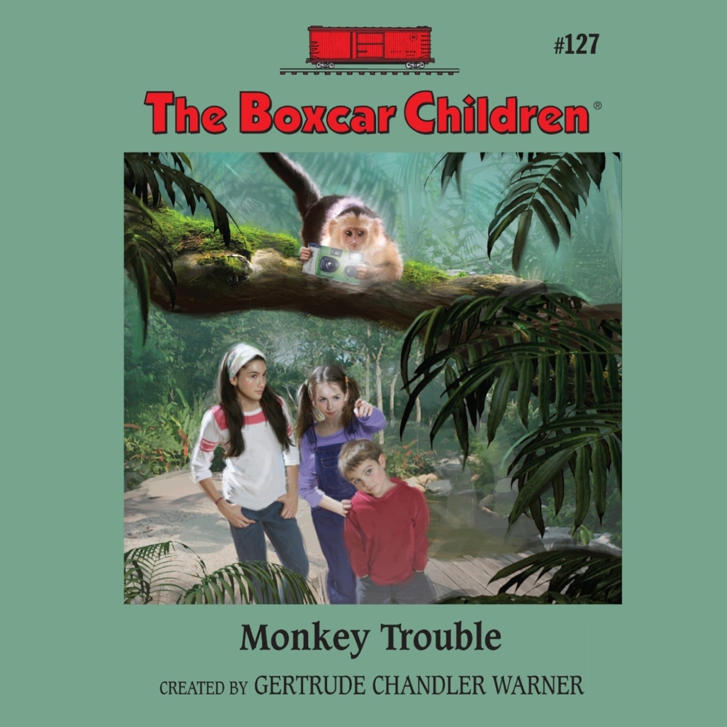 Printable Monkey Trouble Audiobook Cover Art