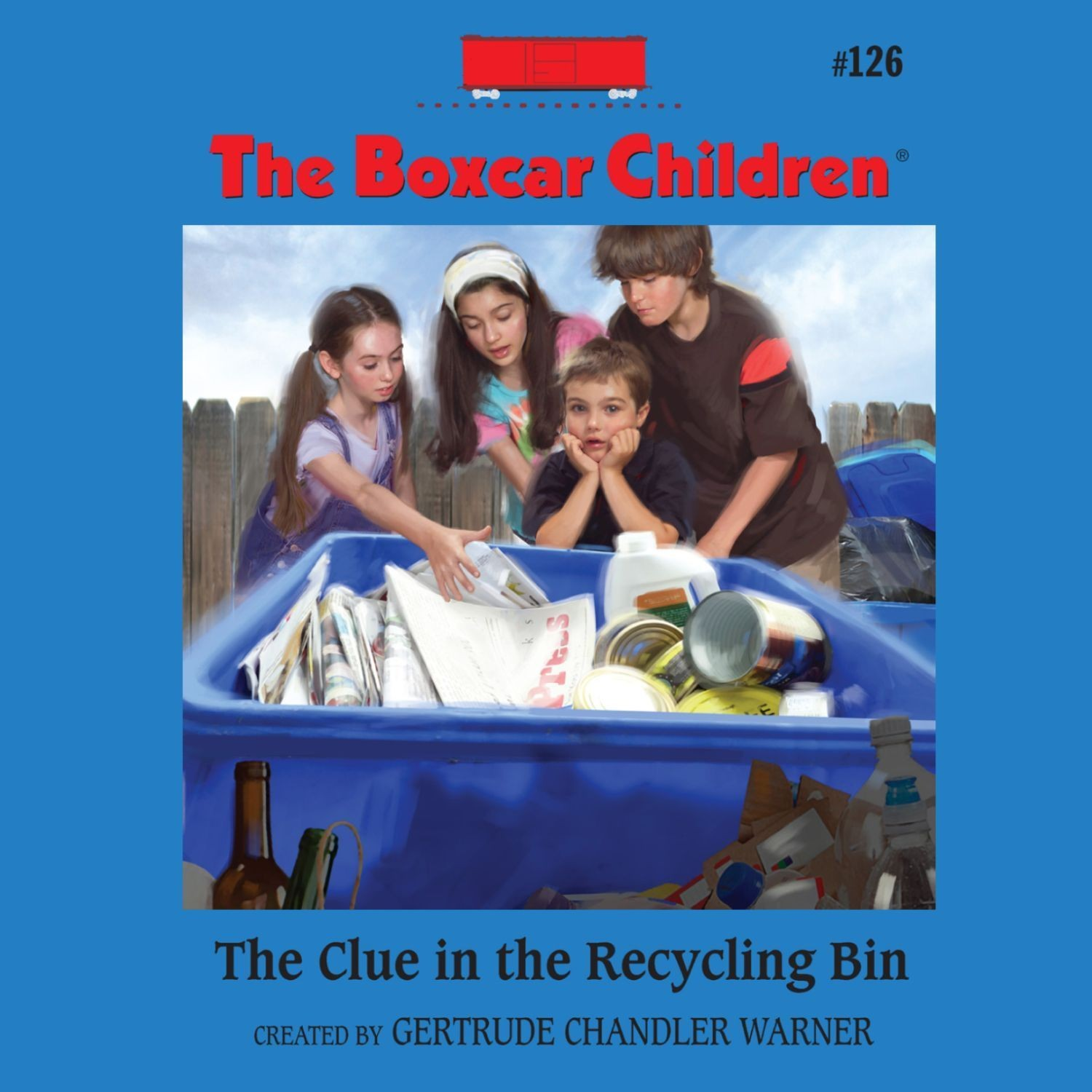 Printable The Clue in the Recycling Bin Audiobook Cover Art