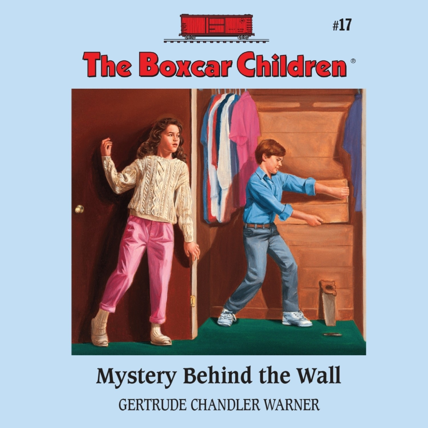 Printable Mystery behind the Wall Audiobook Cover Art