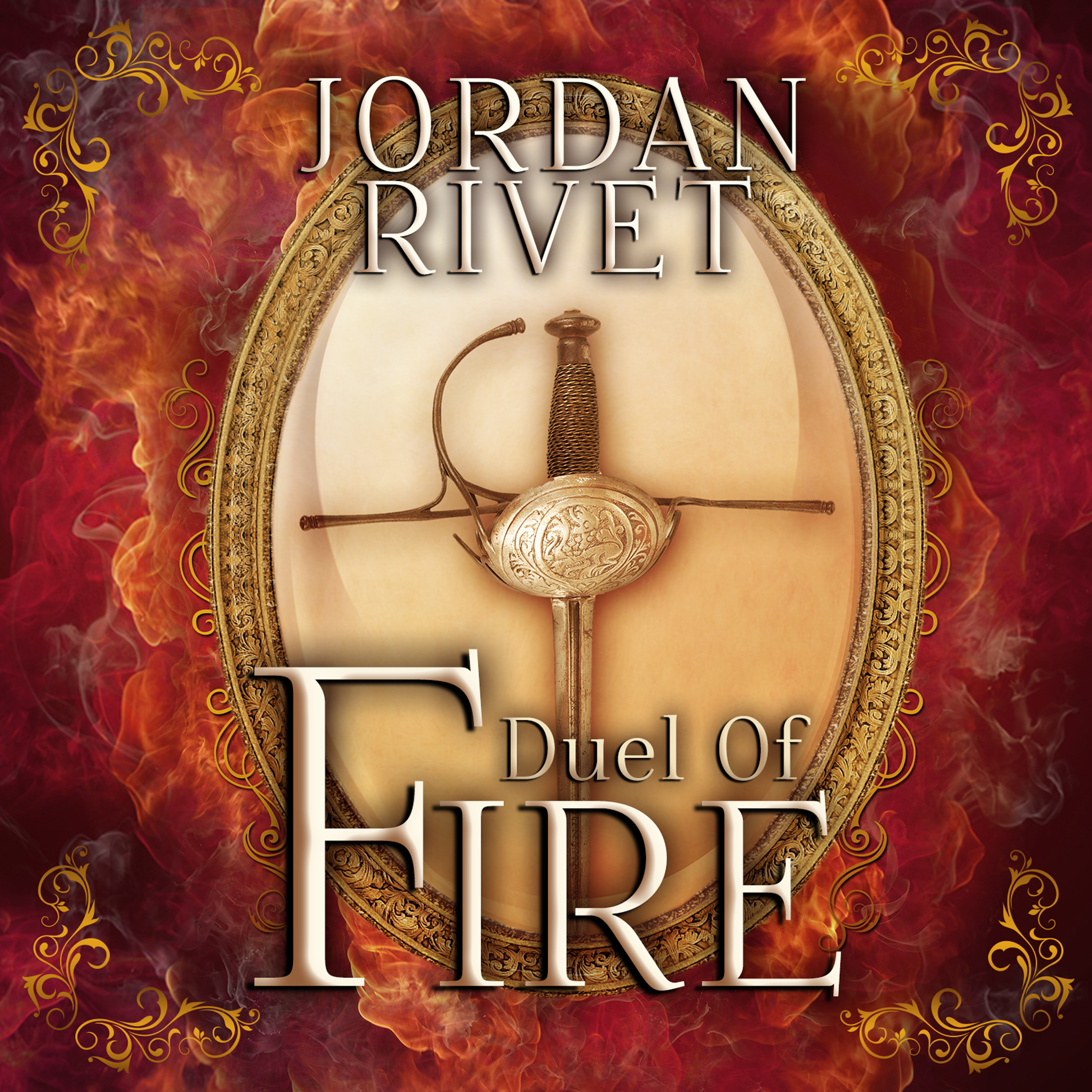 Printable Duel of Fire Audiobook Cover Art