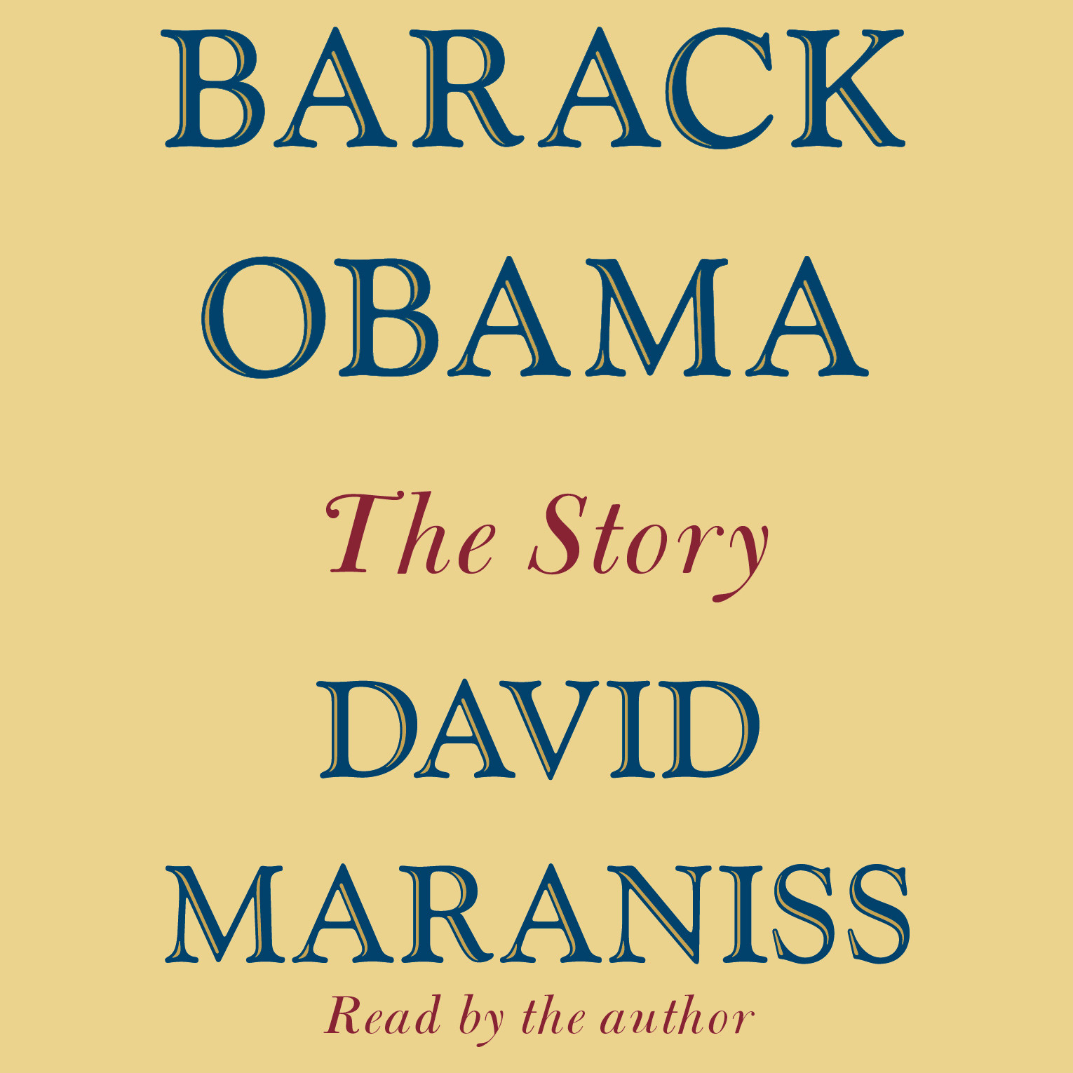 Printable Barack Obama: The Story Audiobook Cover Art