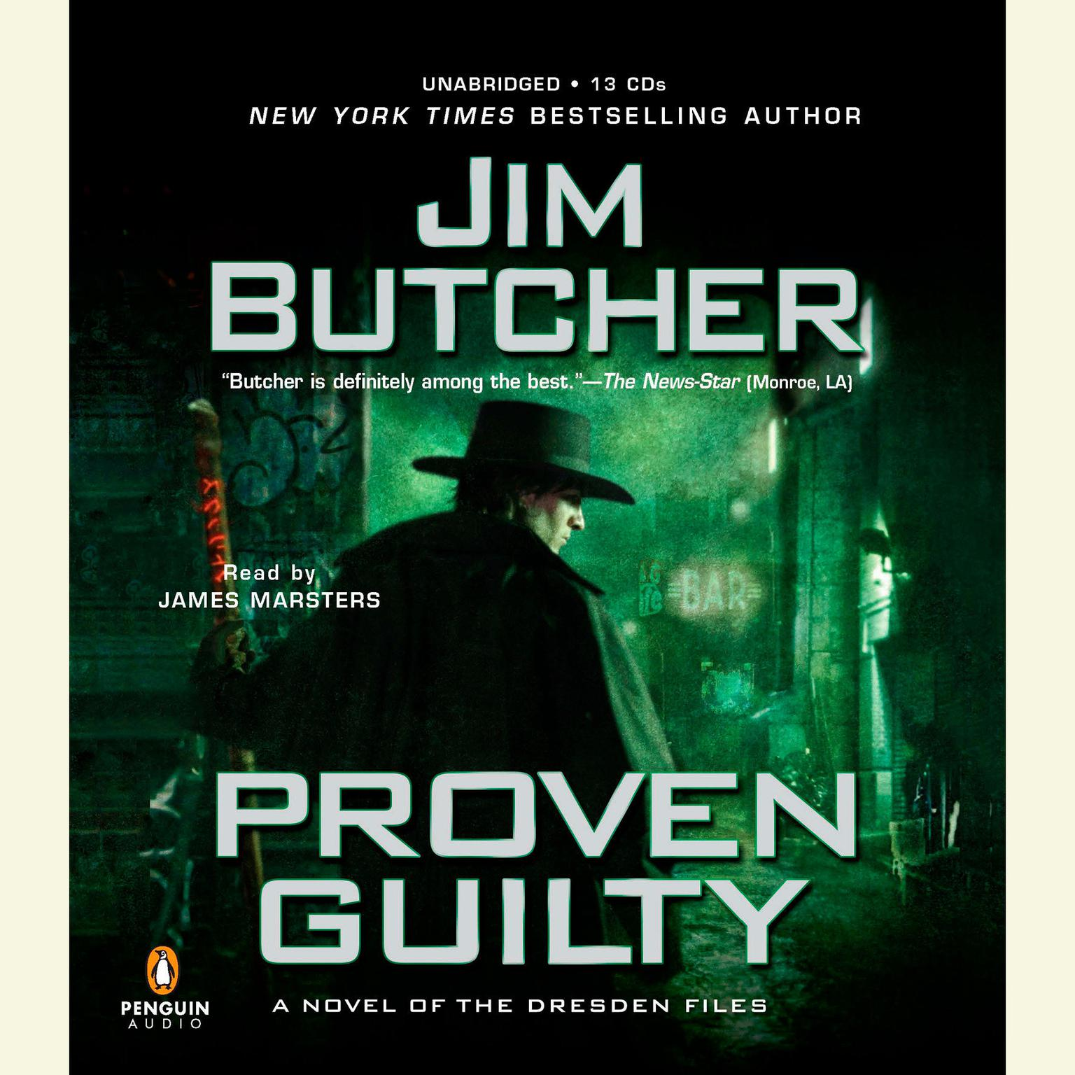 Printable Proven Guilty: A Novel of the Dresden Files Audiobook Cover Art