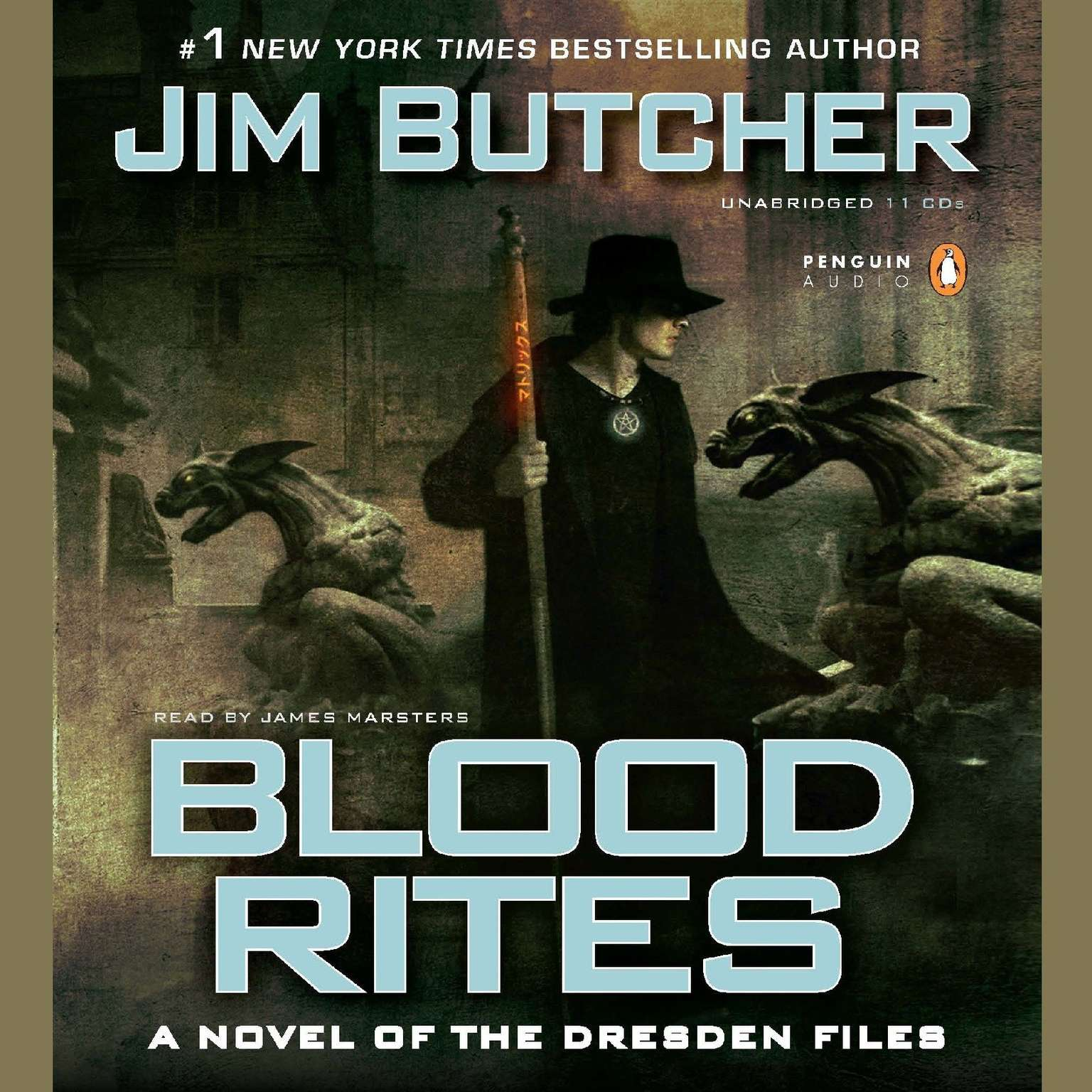 Printable Blood Rites: Book six of The Dresden Files Audiobook Cover Art