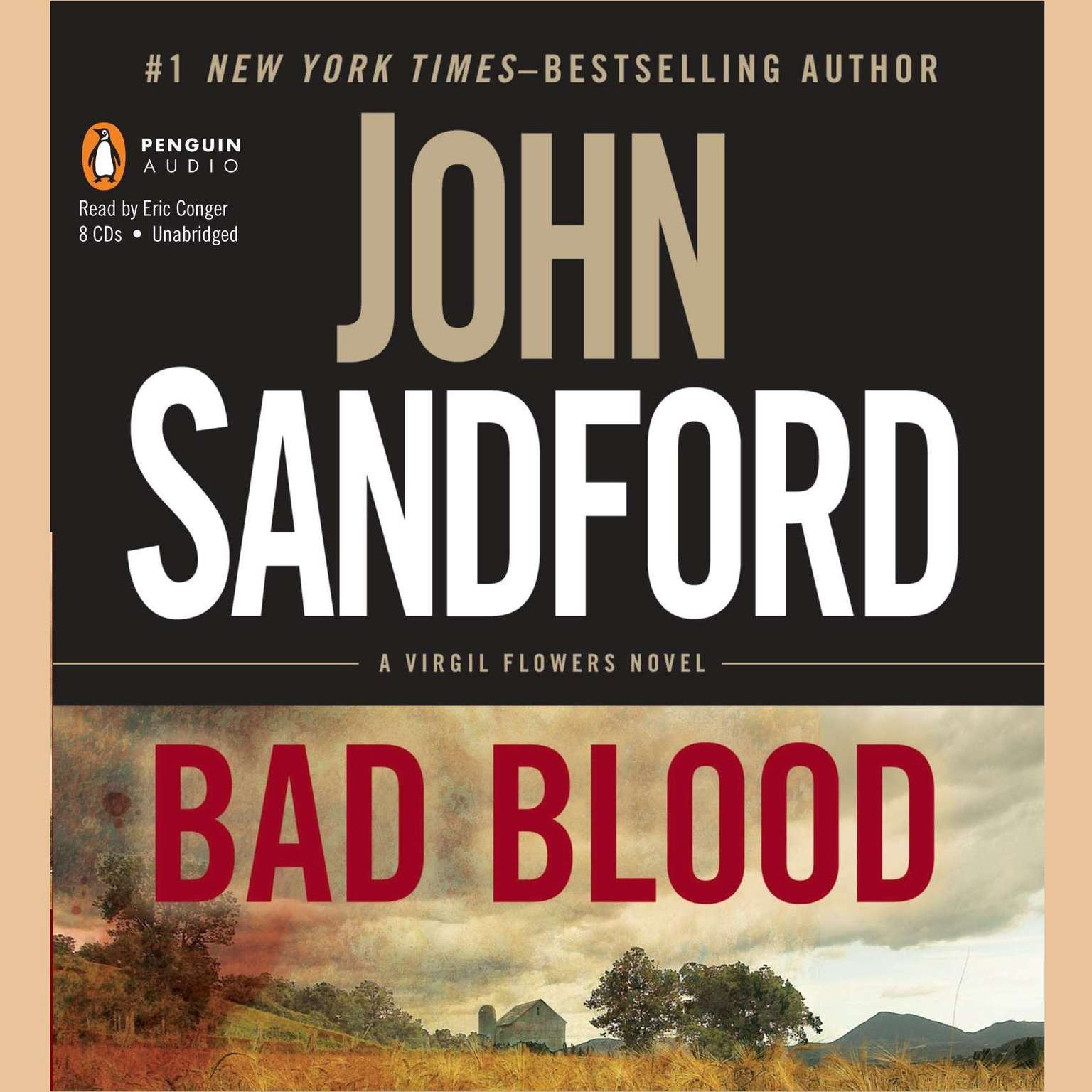 Printable Bad Blood: a Virgil Flowers novel Audiobook Cover Art