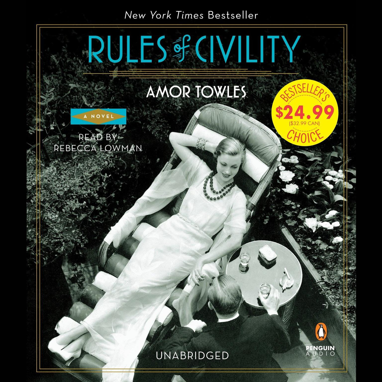 Printable Rules of Civility: A Novel Audiobook Cover Art