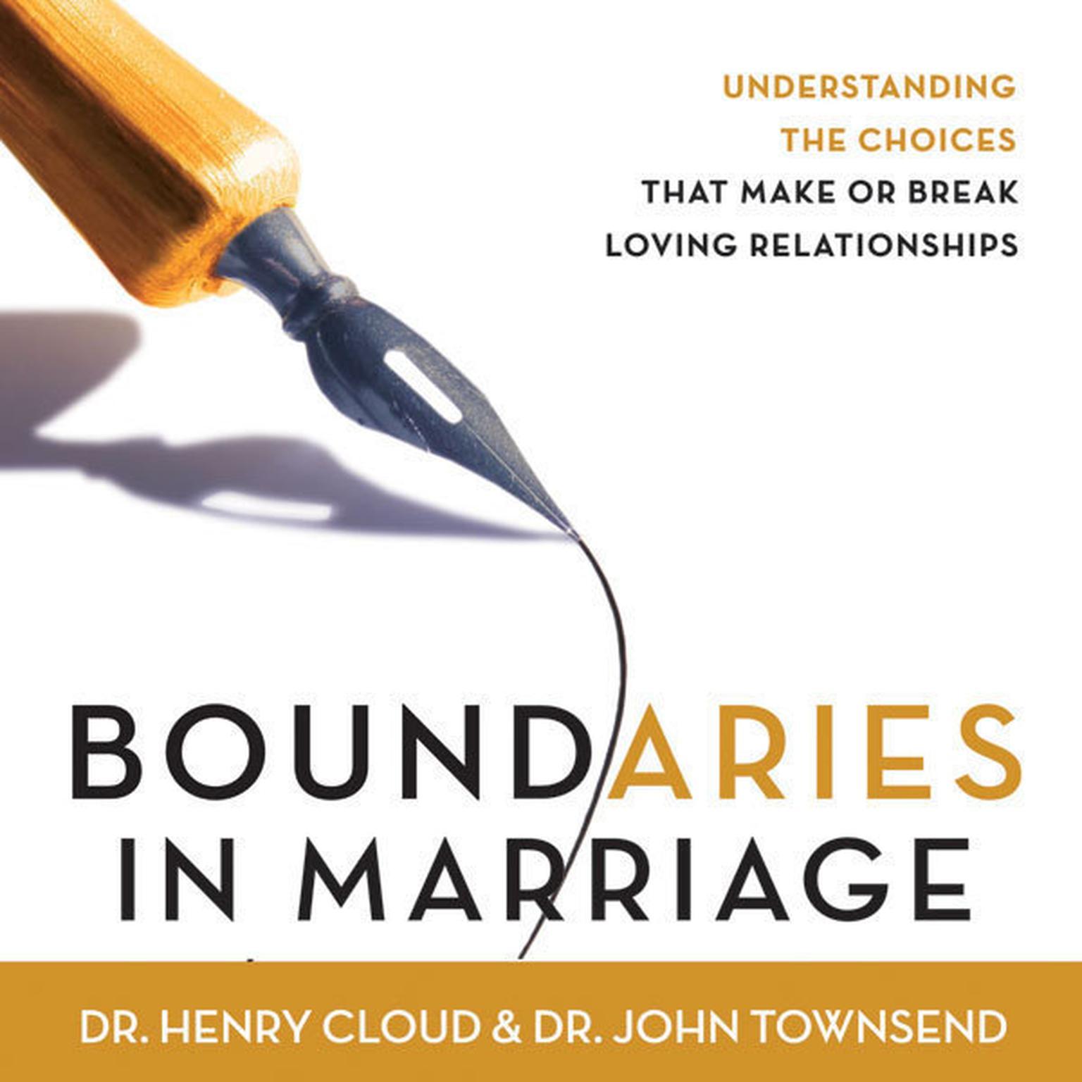 Printable Boundaries in Marriage Audiobook Cover Art