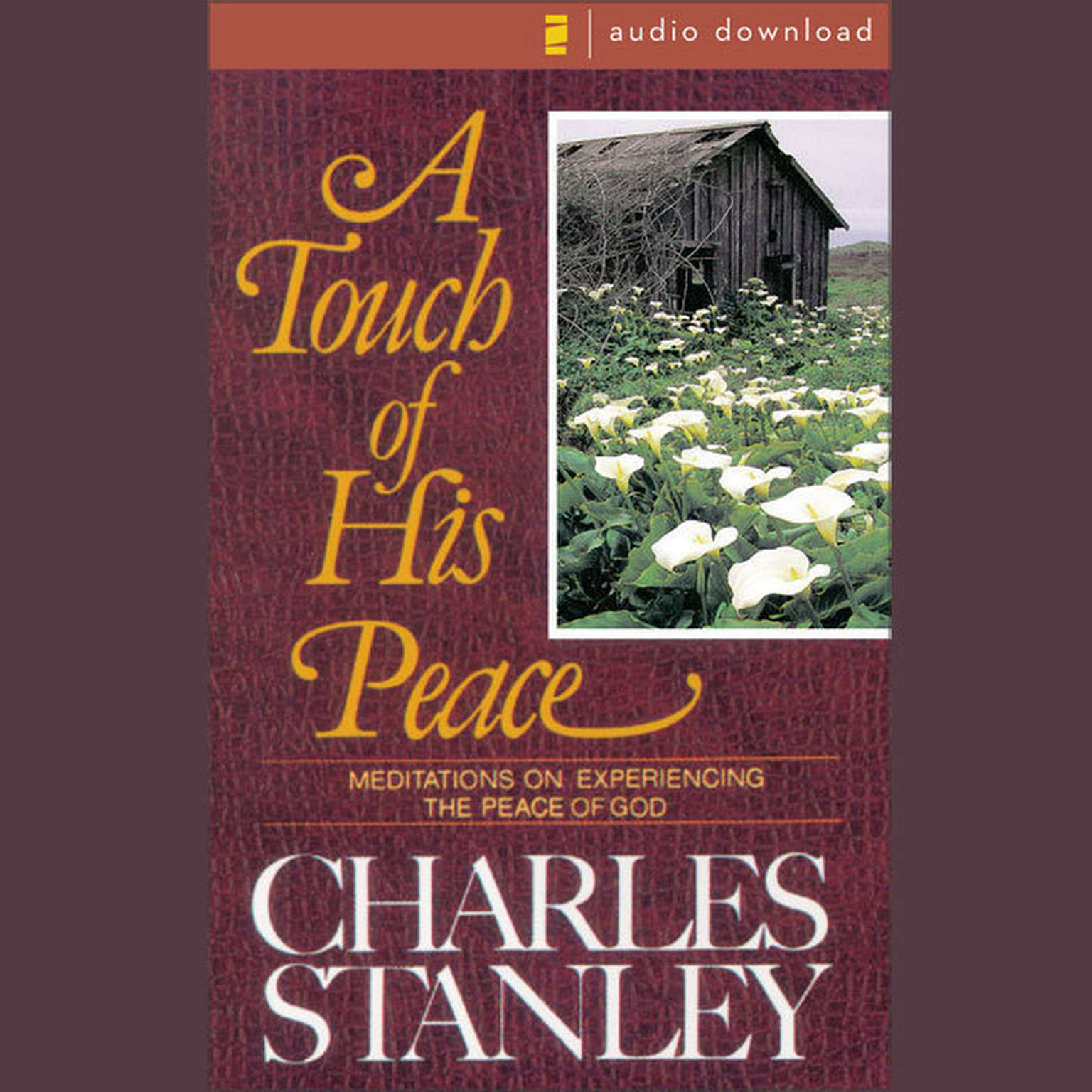 Printable A Touch of His Peace: Meditations on Experiencing the Peace of God Audiobook Cover Art