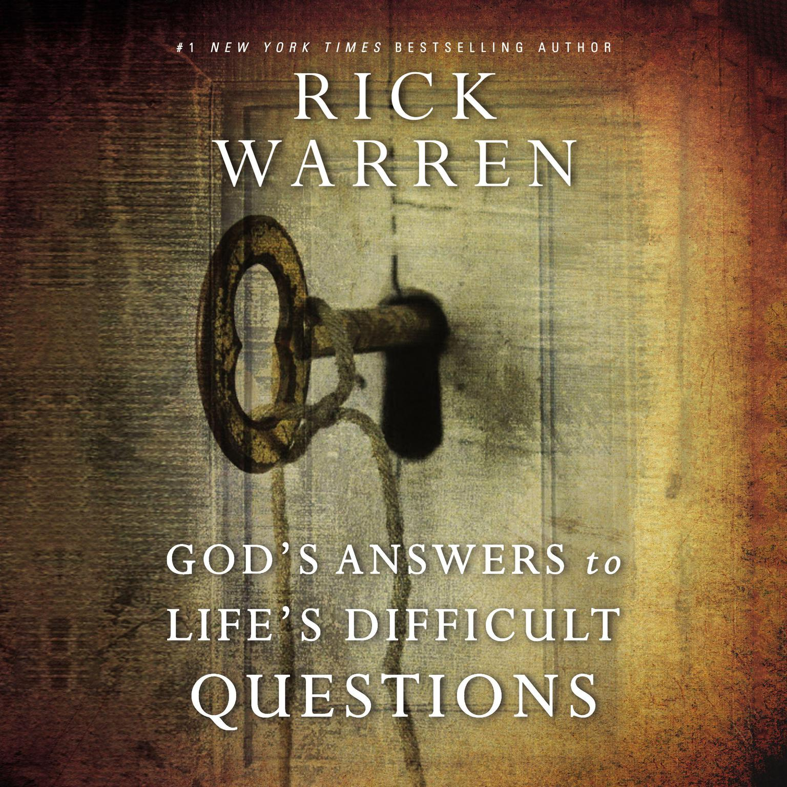 Printable God's Answers to Life's Difficult Questions Audiobook Cover Art