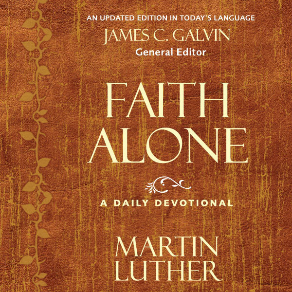 Printable Faith Alone: A Daily Devotional Audiobook Cover Art