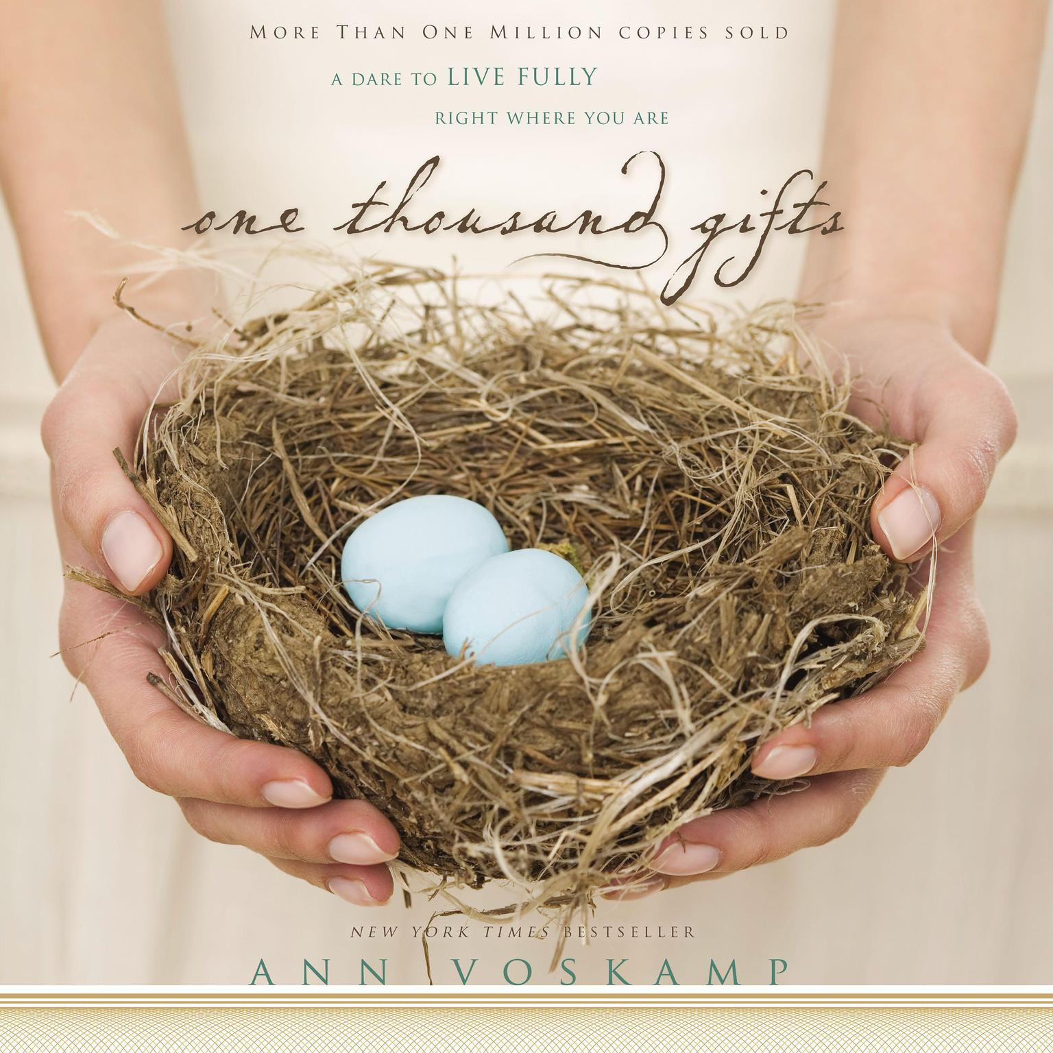 Printable One Thousand Gifts: A Dare to Live Fully Right Where You Are Audiobook Cover Art