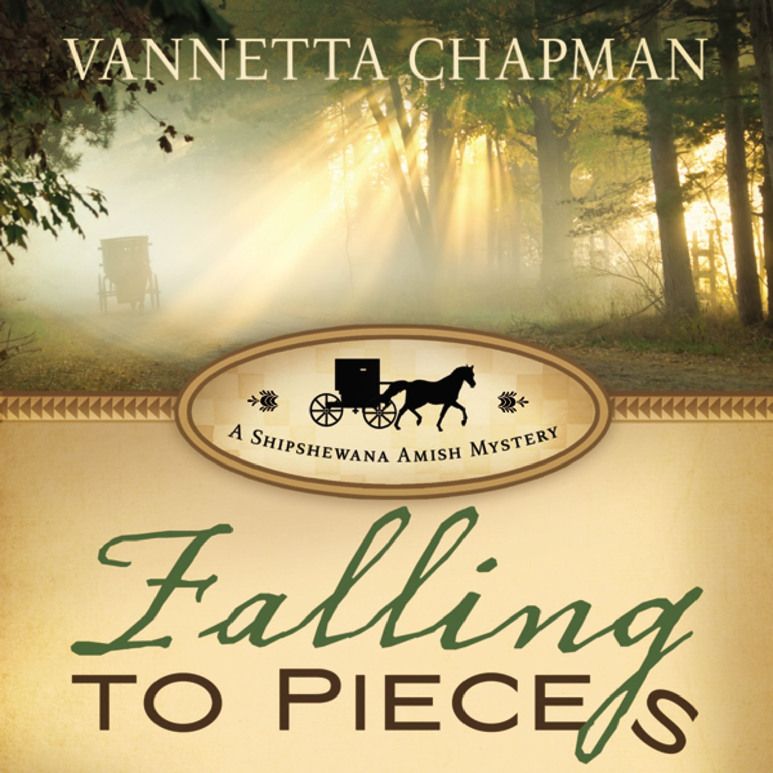 Printable Falling to Pieces: A Quilt Shop Murder Audiobook Cover Art