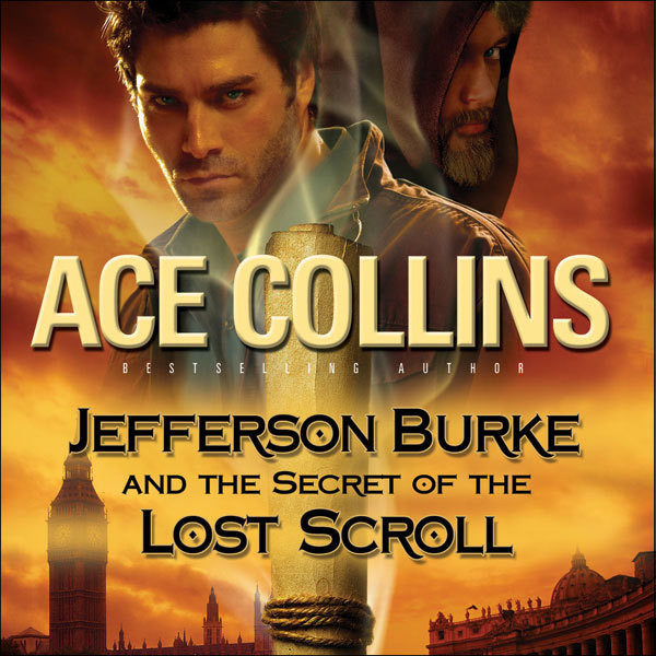 Printable Jefferson Burke and the Secret of the Lost Scroll Audiobook Cover Art