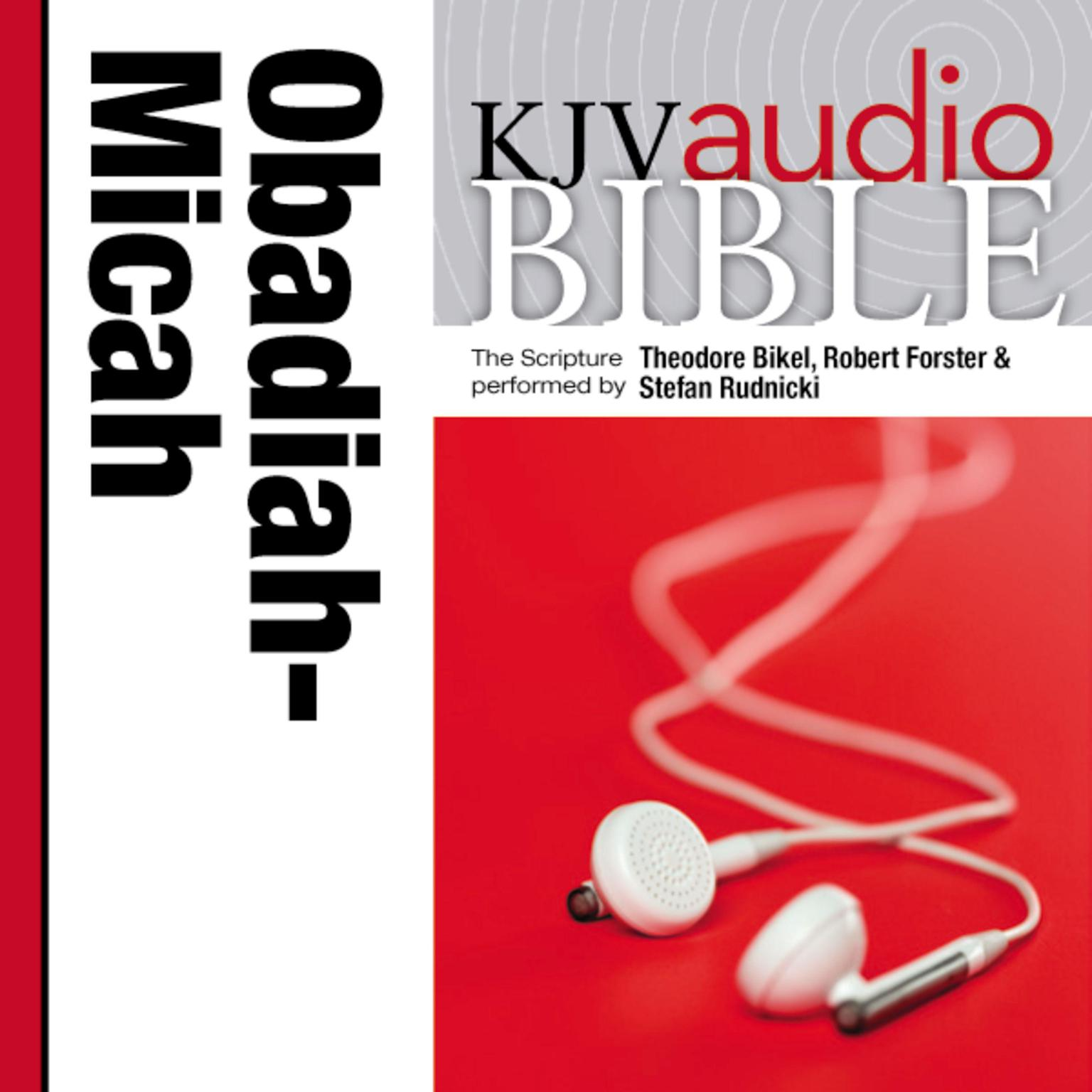 Printable Pure Voice Audio Bible - King James Version, KJV: (24) Obadiah, Jonah, and Micah Audiobook Cover Art