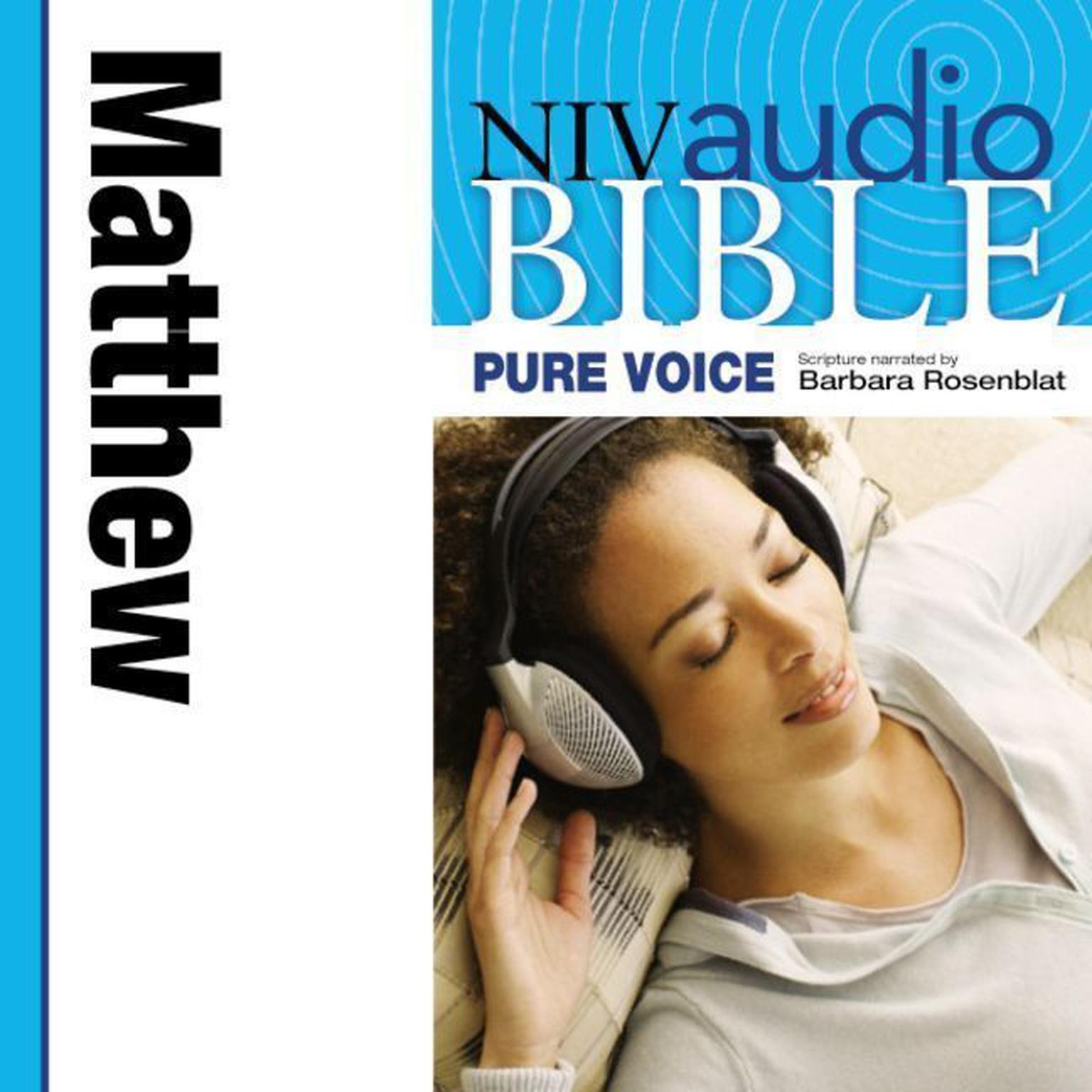 Printable Pure Voice Audio Bible - New International Version, NIV (Narrated by Barbara Rosenblat): (01) Matthew Audiobook Cover Art