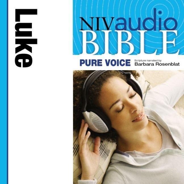Printable NIV, Audio Bible, Pure Voice: Luke, Audio Download (Narrated by Barbara Rosenblat) Audiobook Cover Art