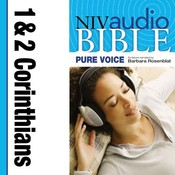 NIV, Audio Bible, Pure Voice: 1 and 2 Corinthians, Audio Download (Narrated by Barbara Rosenblat) Audiobook, by Zondervan