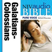 NIV, Audio Bible, Pure Voice: Galatians, Ephesians, Philippians, and Colossians, Audio Download (Narrated by Barbara Rosenblat), by Zondervan