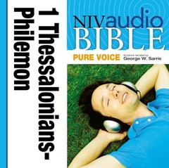 Pure Voice Audio Bible - New International Version, NIV (Narrated by George W. Sarris): (37) 1 and 2 Thessalonians, 1 and 2 Timothy, Titus, and Philemon Audiobook, by Zondervan