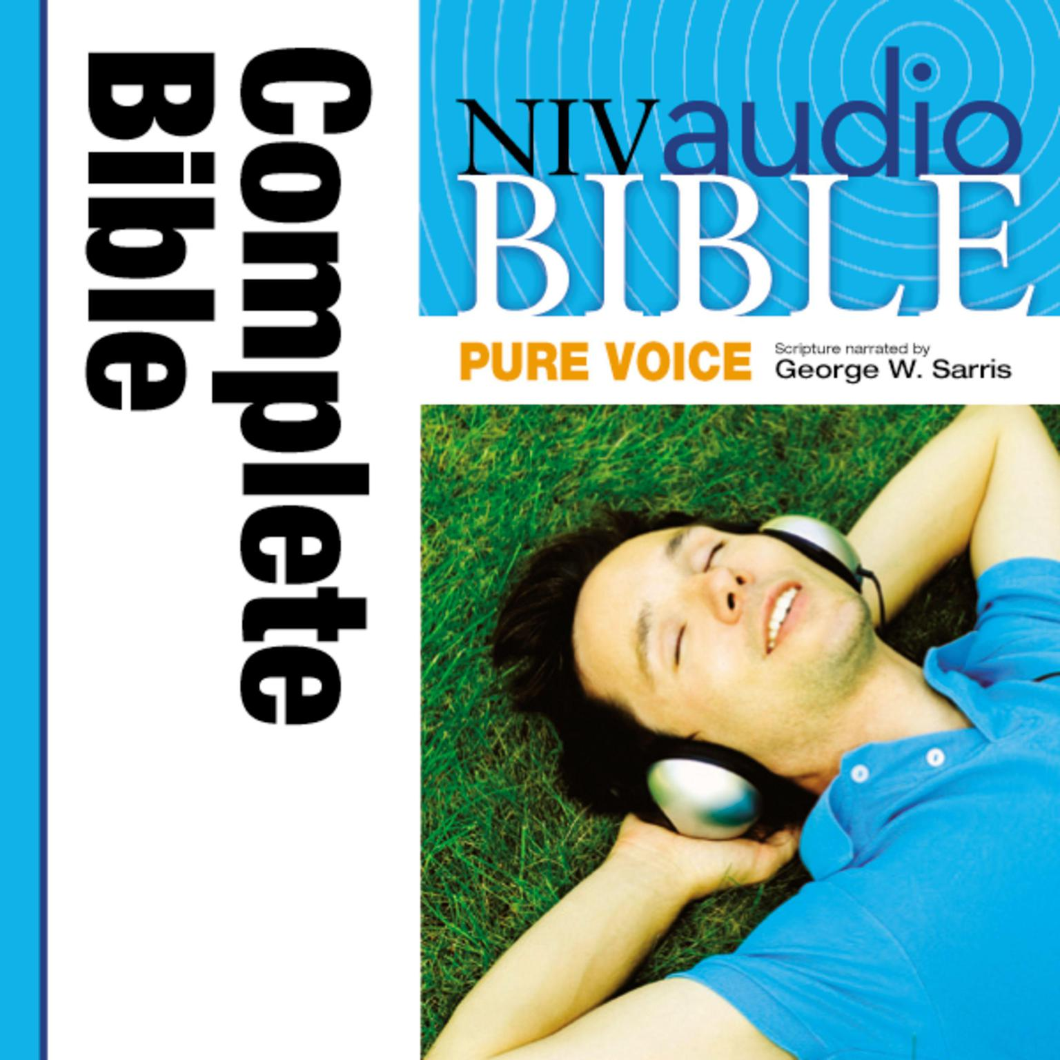 Printable Pure Voice Audio Bible - New International Version, NIV (Narrated by George W. Sarris): Complete Bible Audiobook Cover Art
