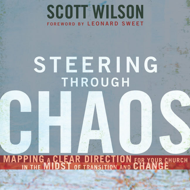 Printable Steering Through Chaos: Mapping a Clear Direction for Your Church in the Midst of Transition and Change Audiobook Cover Art