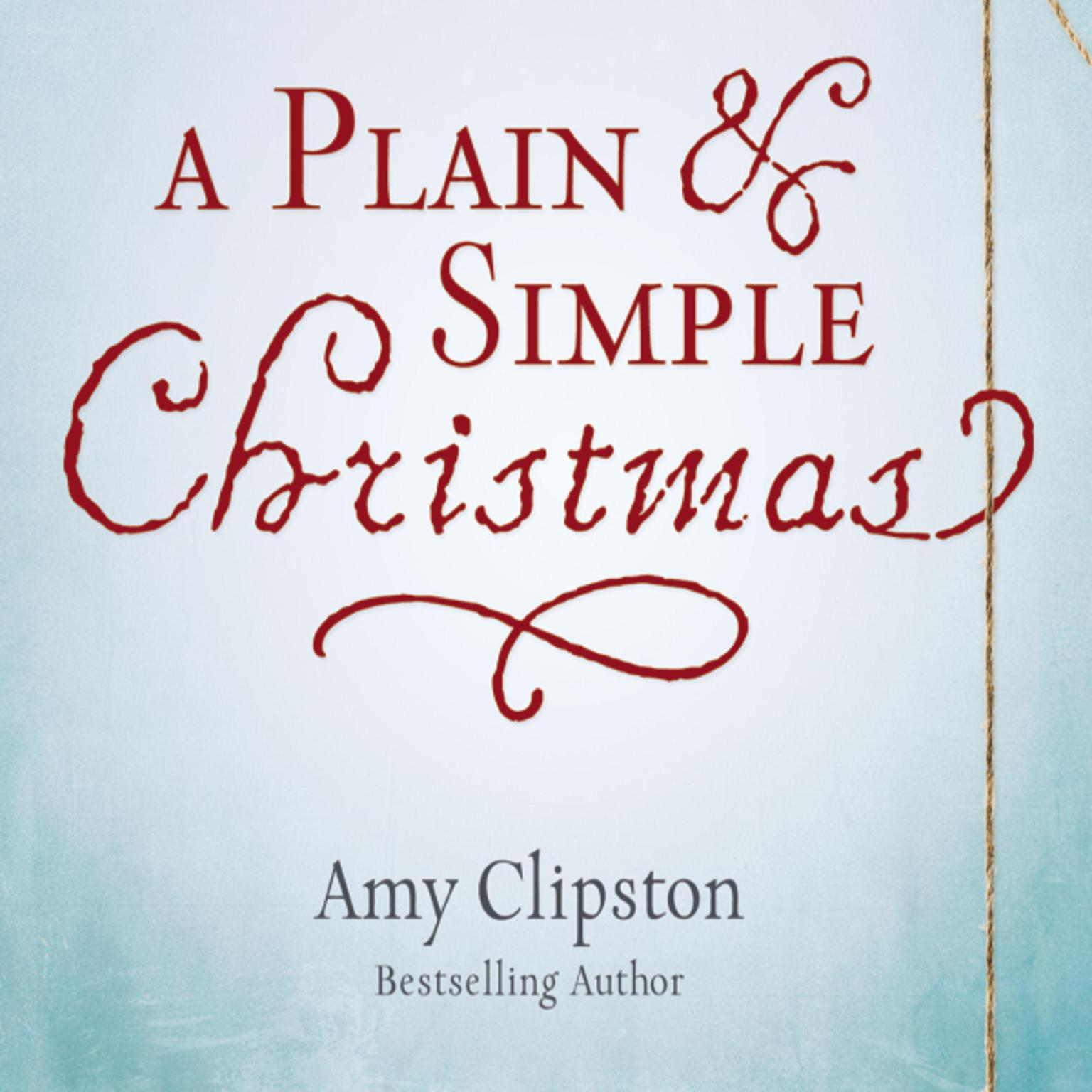 Printable A Plain and Simple Christmas Audiobook Cover Art
