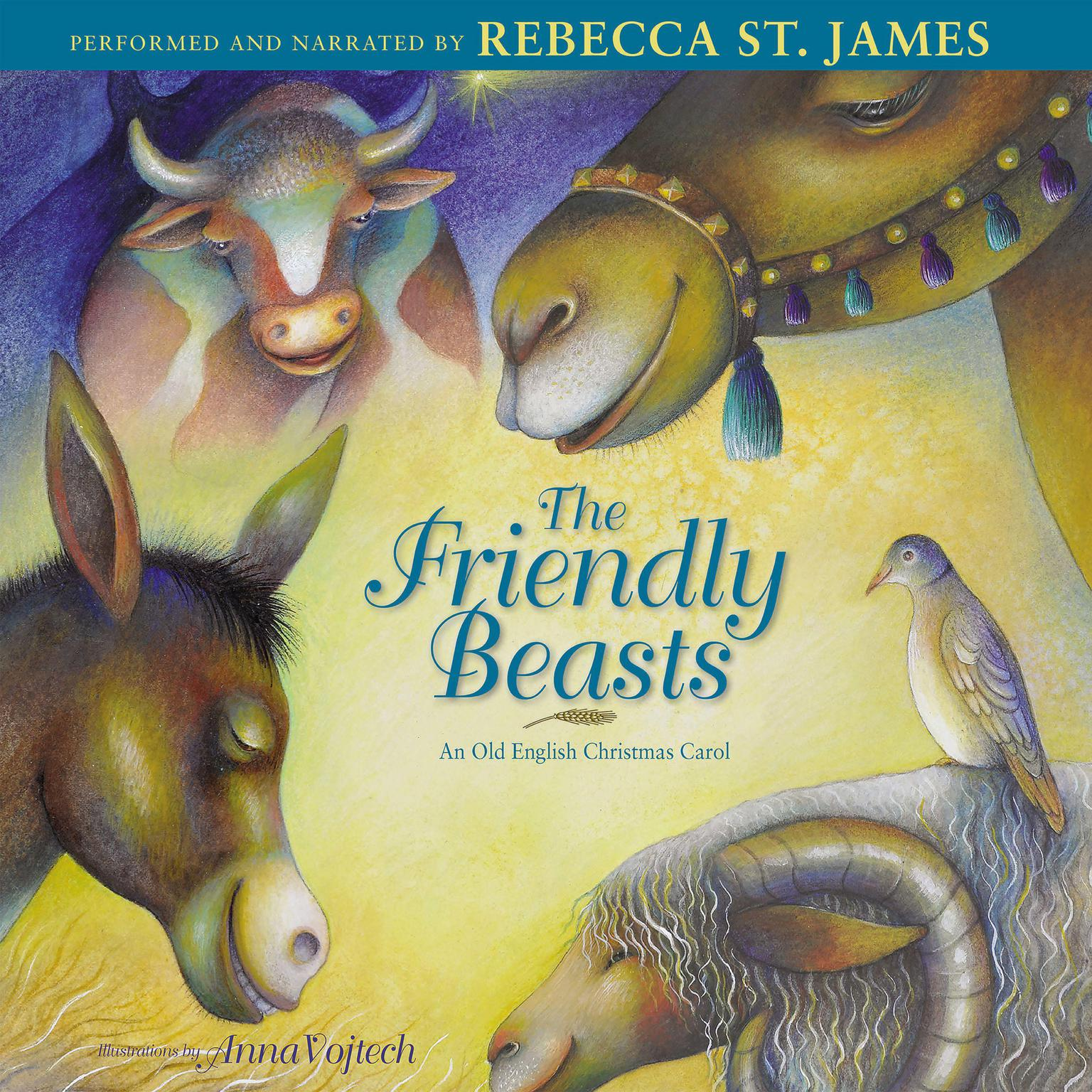 Printable Friendly Beasts: An Old English Christmas Carol Audiobook Cover Art