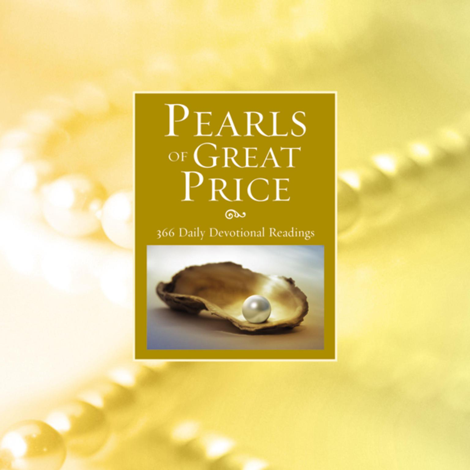 Printable Pearls of Great Price: 366 Daily Devotional Readings Audiobook Cover Art