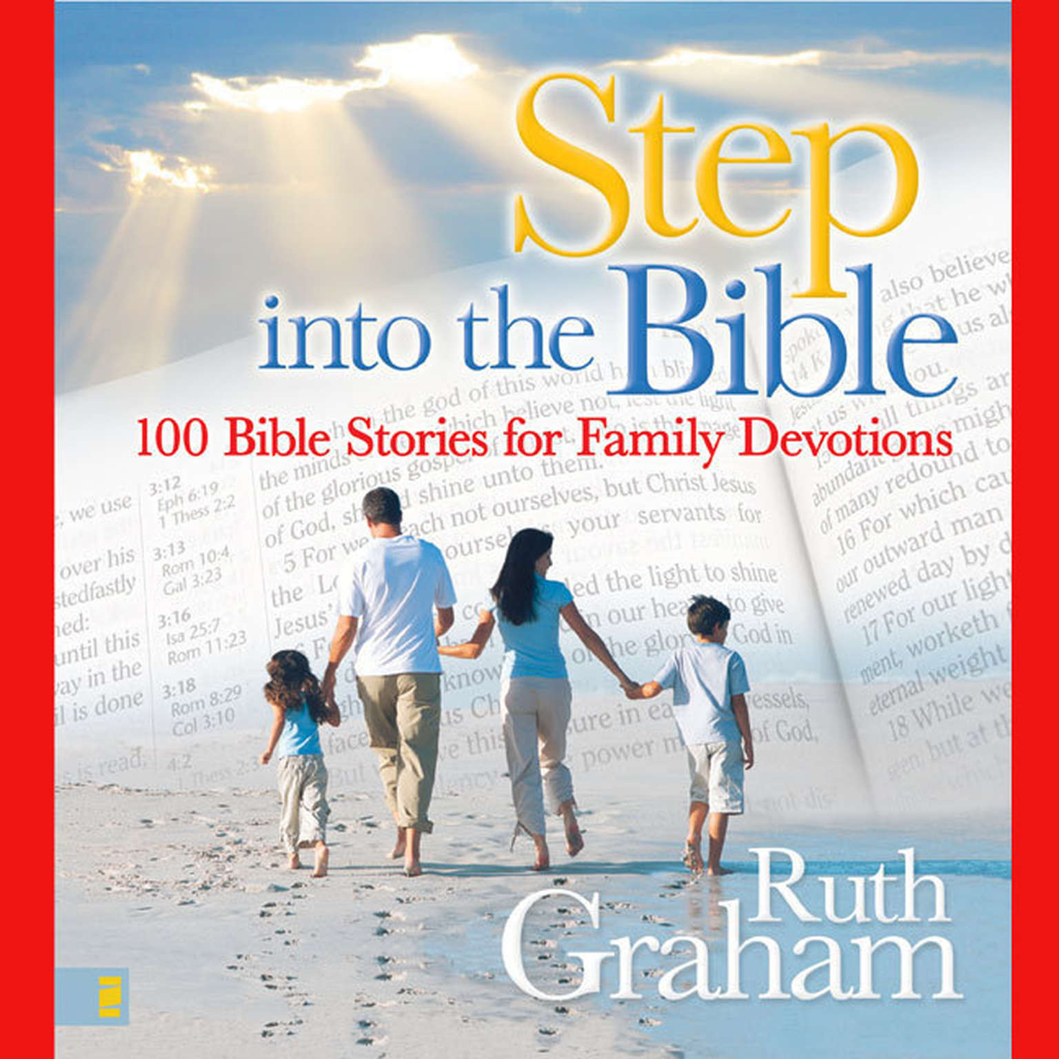 Printable Step into the Bible: 100 Family Devotions to Help Grow Your Child's Faith Audiobook Cover Art