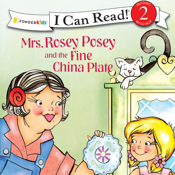 Printable Mrs. Rosey Posey and the Fine China Plate Audiobook Cover Art