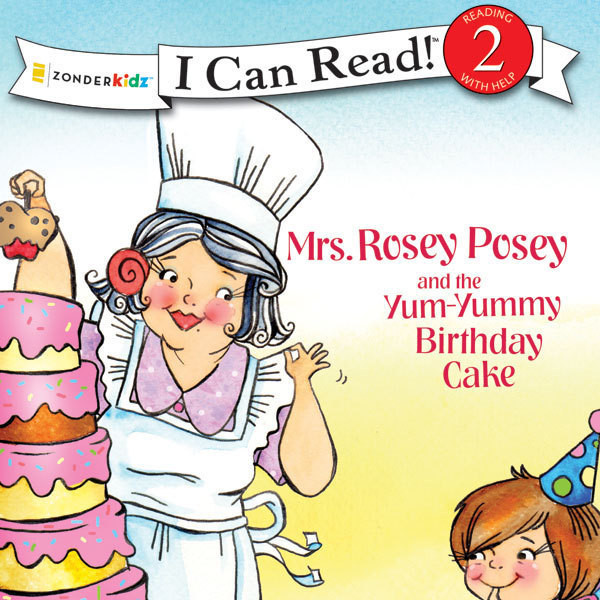 Printable Mrs. Rosey Posey and the Yum-Yummy Birthday Cake Audiobook Cover Art