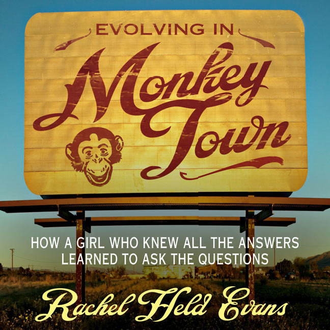 Printable Evolving in Monkey Town: How a Girl Who Knew All the Answers Learned to Ask the Questions Audiobook Cover Art
