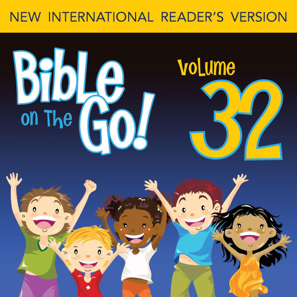 Printable Bible on the Go Vol. 32: Daniel and the Fiery Furnance, Writing on the Wall, and the Lion's Den (Daniel 3, 5, 6) Audiobook Cover Art