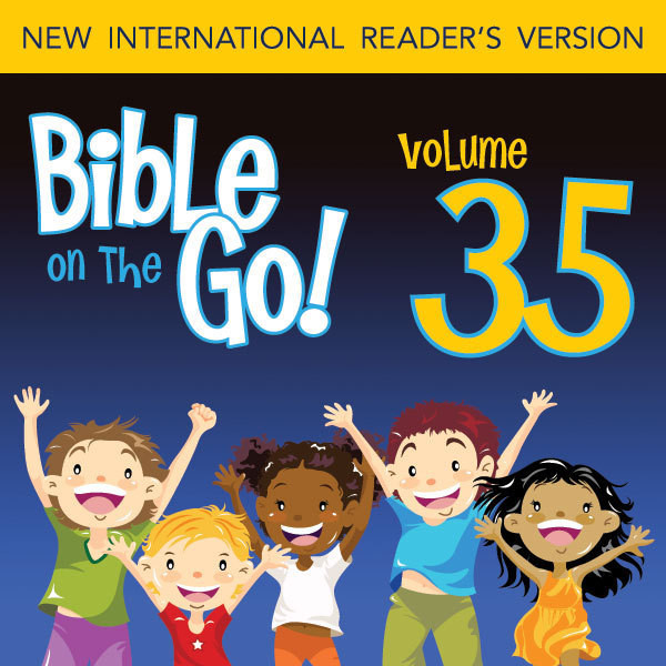 Printable Bible on the Go Vol. 35: Baptism, Temptation, Disciples, and Miracles of Jesus (Matthew 3-4; Mark 1-2; John 1, 3; Luke 5-6) Audiobook Cover Art