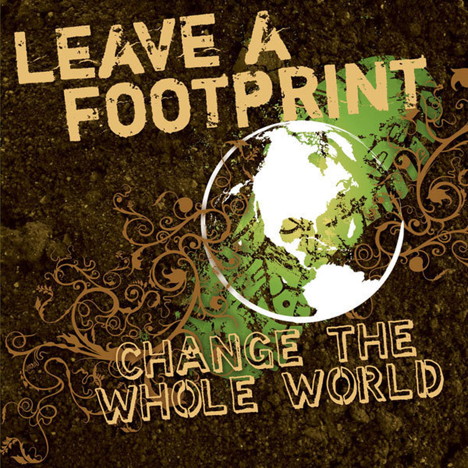 Printable Leave a Footprint - Change The Whole World Audiobook Cover Art