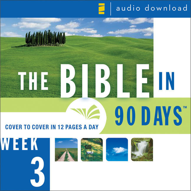 Printable The Bible in 90 Days: Week 3: Deuteronomy 23:1–1 Samuel 28:25 Audiobook Cover Art