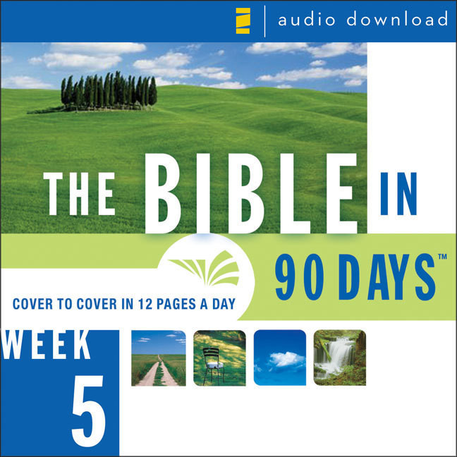 Printable The Bible in 90 Days: Week 5: 1 Chronicles 1:1 - Nehemiah 13:31: 1 Chronicles 1:1–Nehemiah 13:31 Audiobook Cover Art