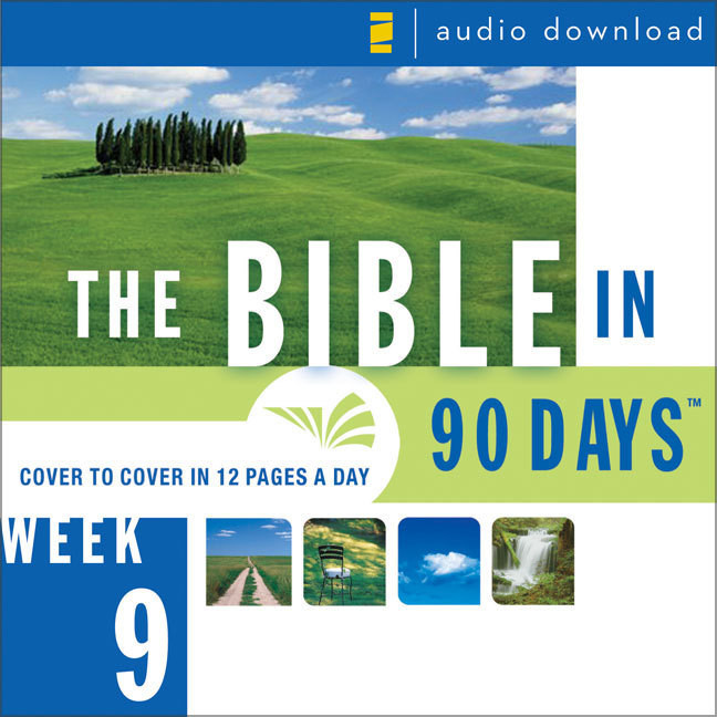 Printable The Bible in 90 Days: Week 9: Jeremiah 34:1 - Daniel 8:27: Jeremiah 34:1–Daniel 8:27 Audiobook Cover Art