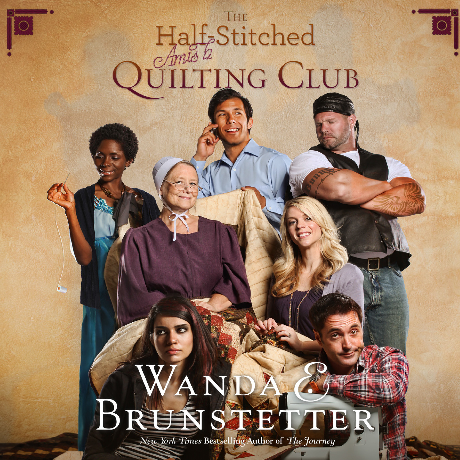 Printable The Half-Stitched Amish Quilting Club Audiobook Cover Art