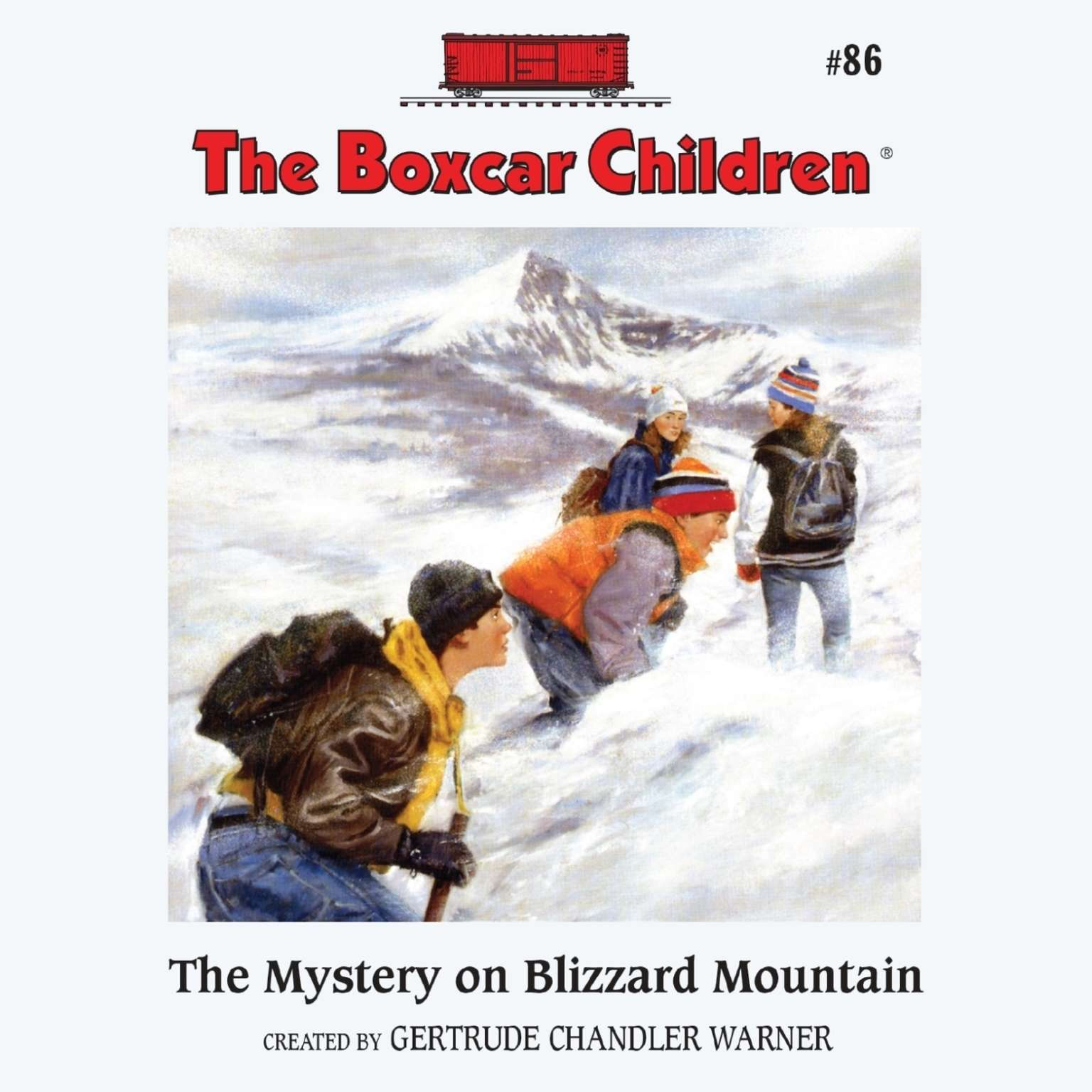 Printable The Mystery on Blizzard Mountain Audiobook Cover Art