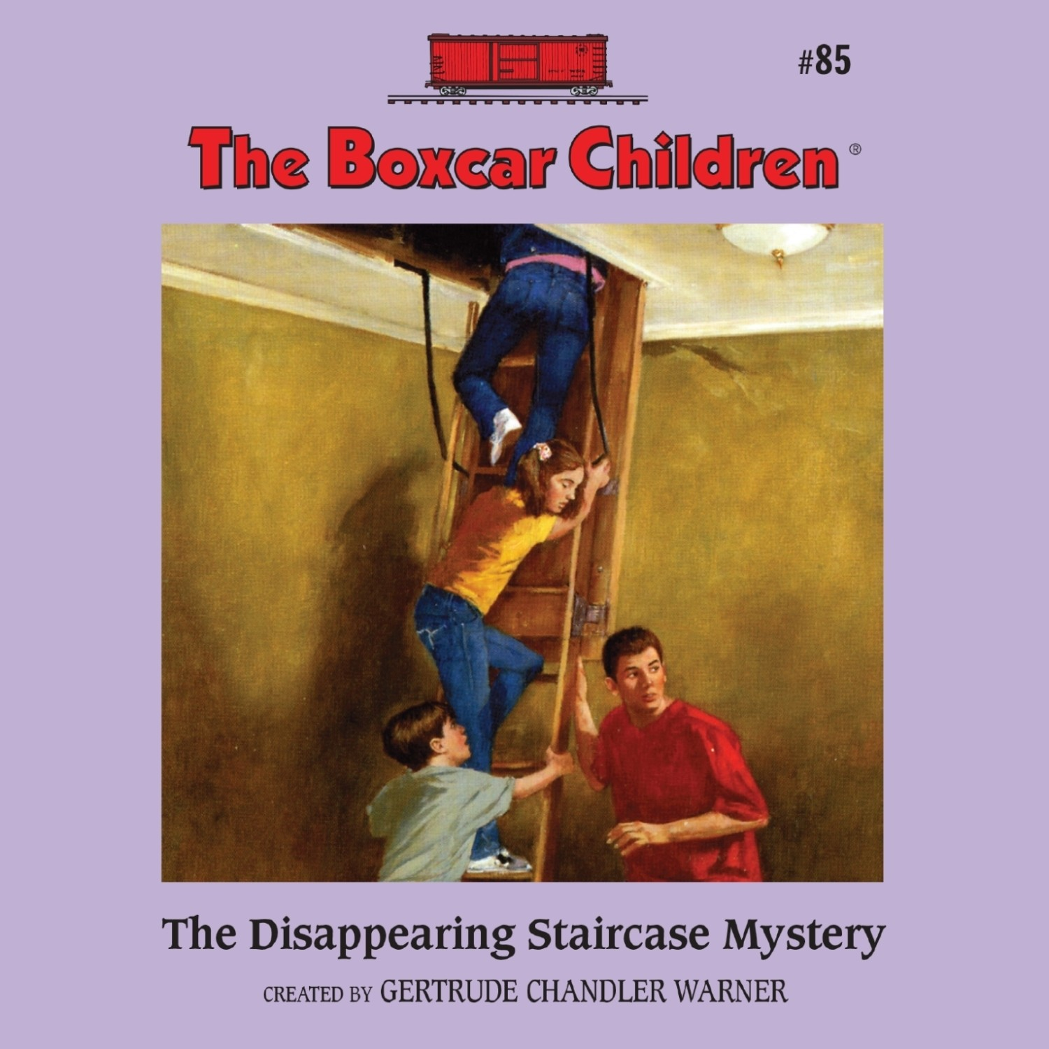 Printable The Disappearing Staircase Mystery Audiobook Cover Art