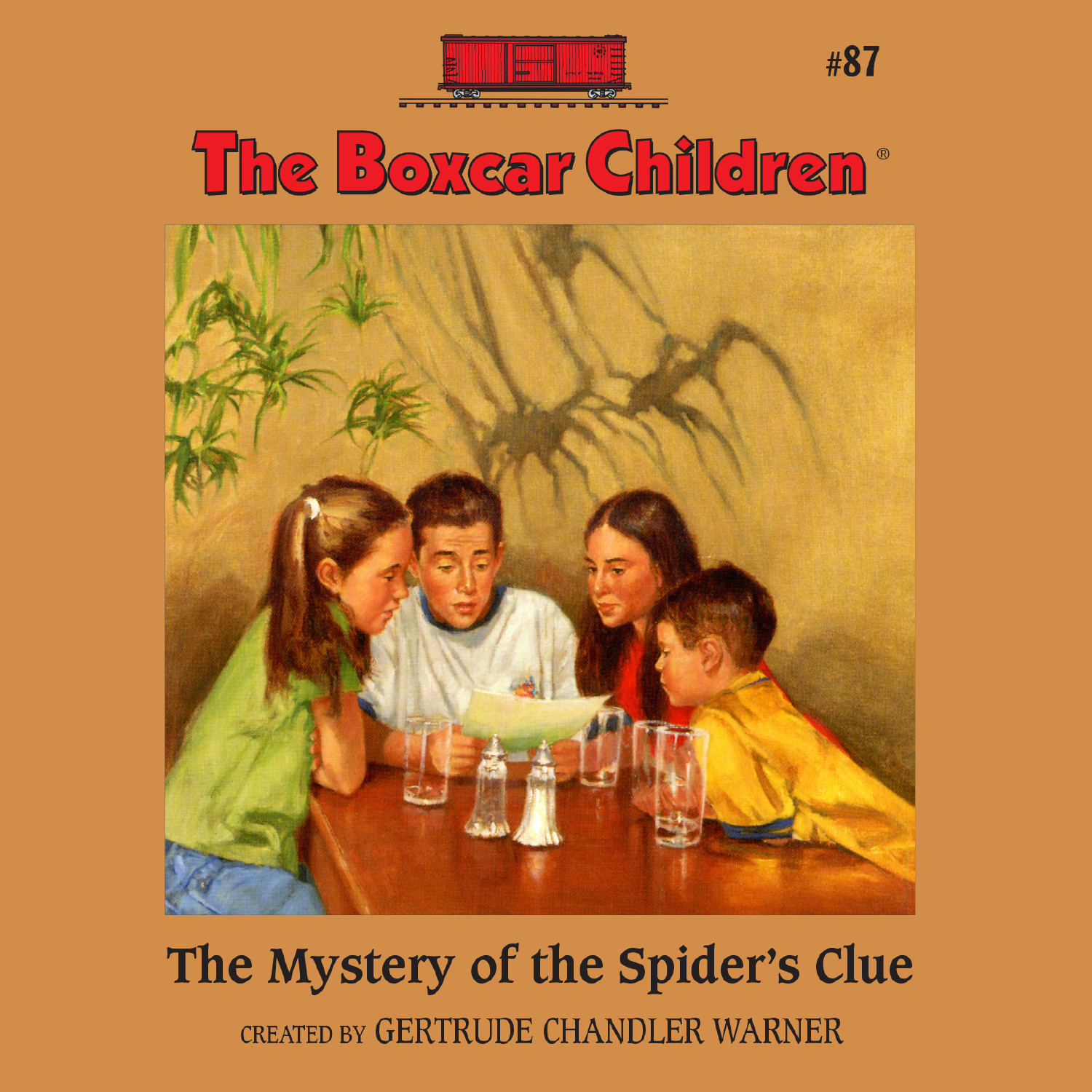 Printable The Mystery of the Spider's Clue Audiobook Cover Art
