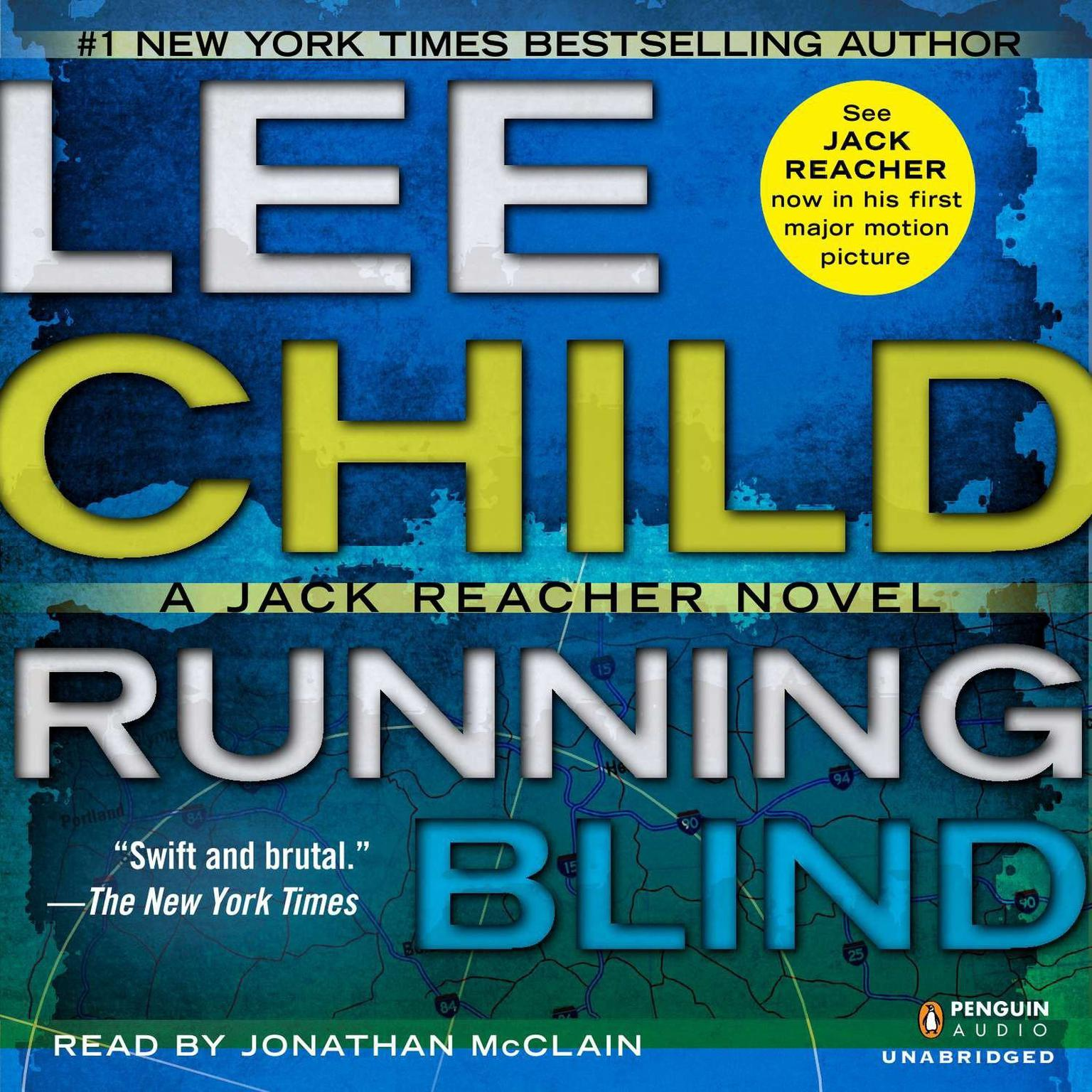 Printable Running Blind: A Jack Reacher Novel Audiobook Cover Art