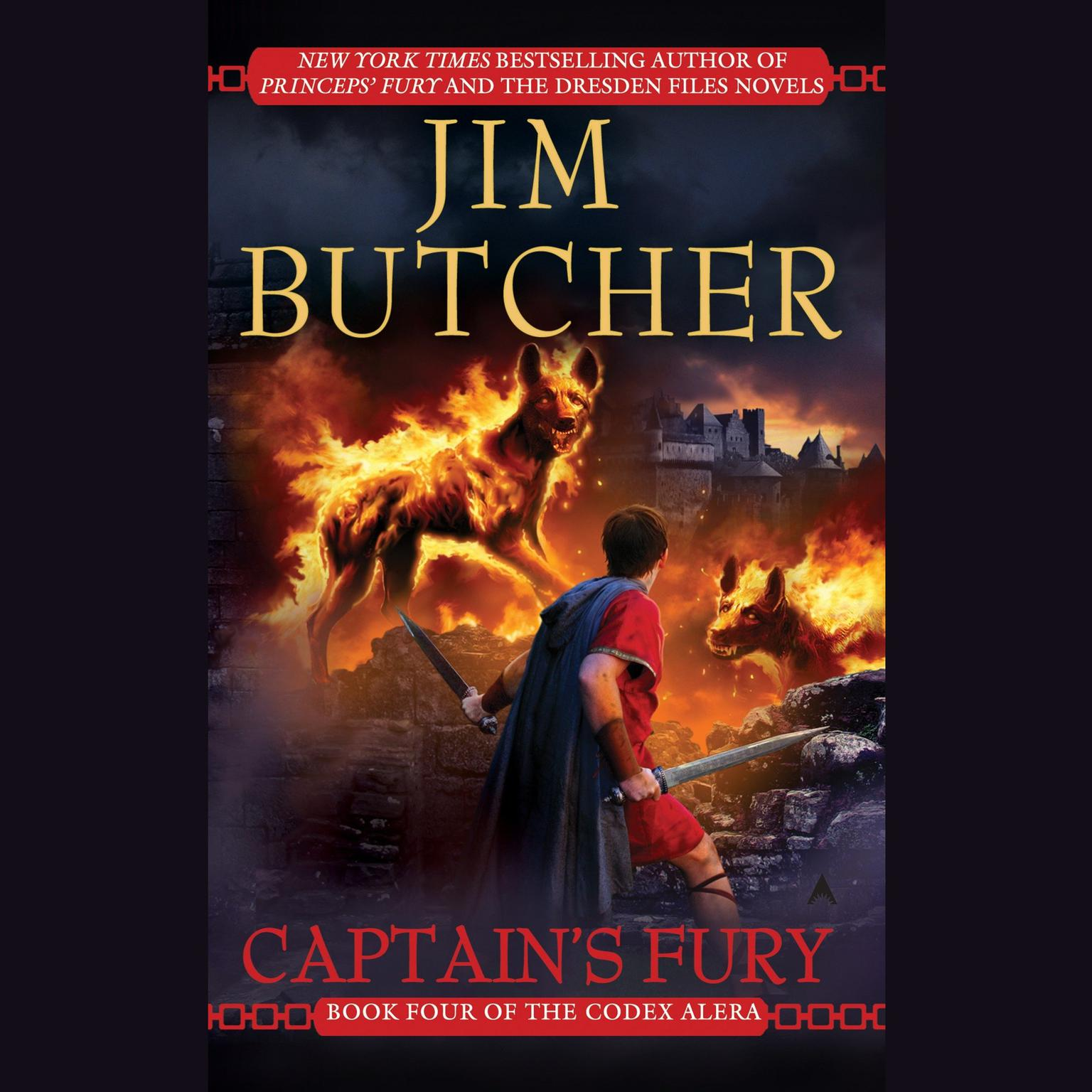 Printable Captain's Fury: Book Four of the Codex Alera Audiobook Cover Art