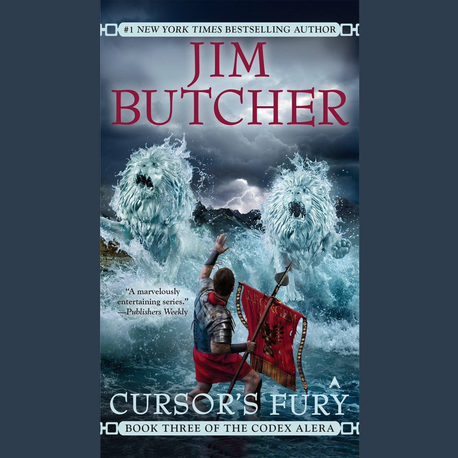Printable Cursor's Fury: Book Three of the Codex Alera Audiobook Cover Art
