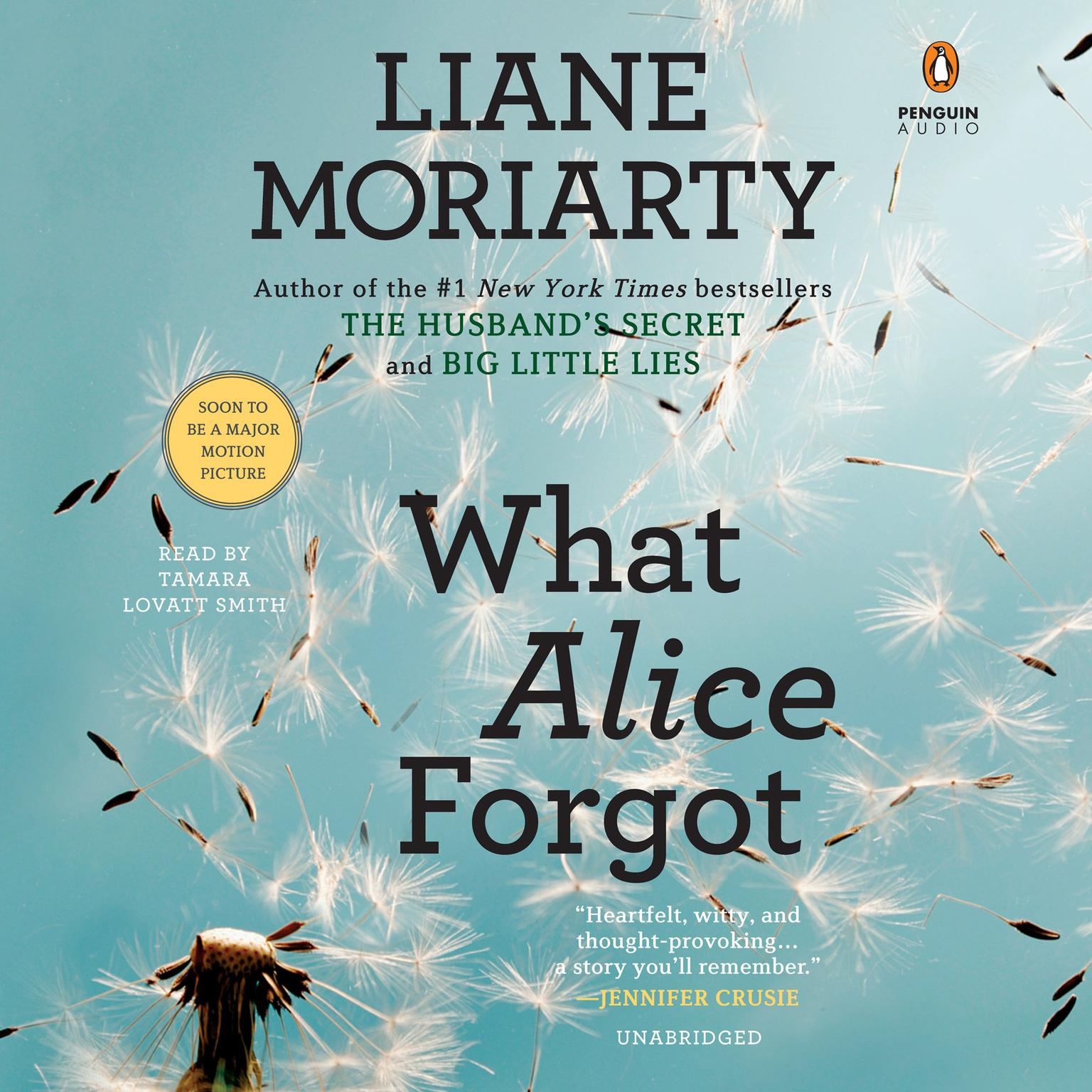 Printable What Alice Forgot Audiobook Cover Art