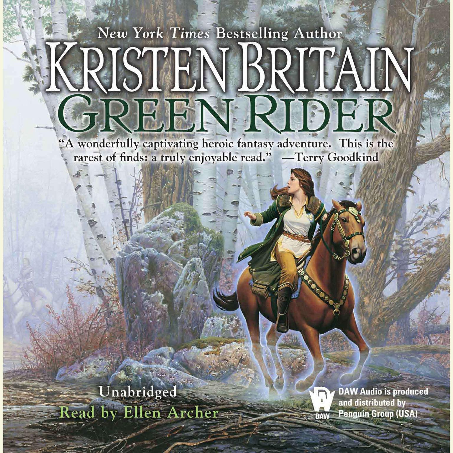 Printable Green Rider Audiobook Cover Art